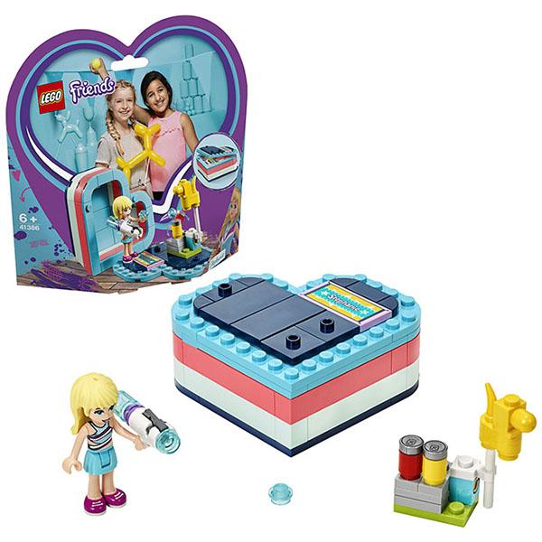 LEGO Friends 41386 Конструктор ЛЕГО Подружки Летняя шкатулка-сердечко для Стефани конструктор lego футбольная тренировка стефани 119дет