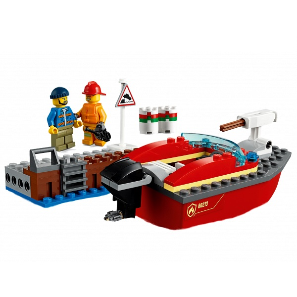 LEGO City 60213 Конструктор ЛЕГО Город Пожарные: Пожар в порту