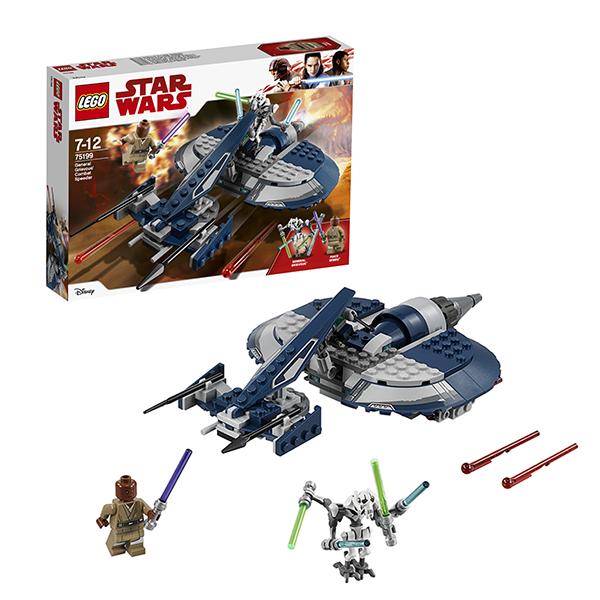 LEGO Star Wars 75199 Конструктор Лего Звездные Войны Боевой спидер генерала Гривуса конструктор lego боевой набор галактической империи лего звездные войны