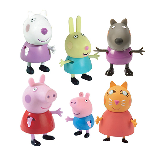 """Peppa Pig 24312_9 Свинка Пеппа Набор """"Пеппа и друзья"""" из 6 фигурок"""