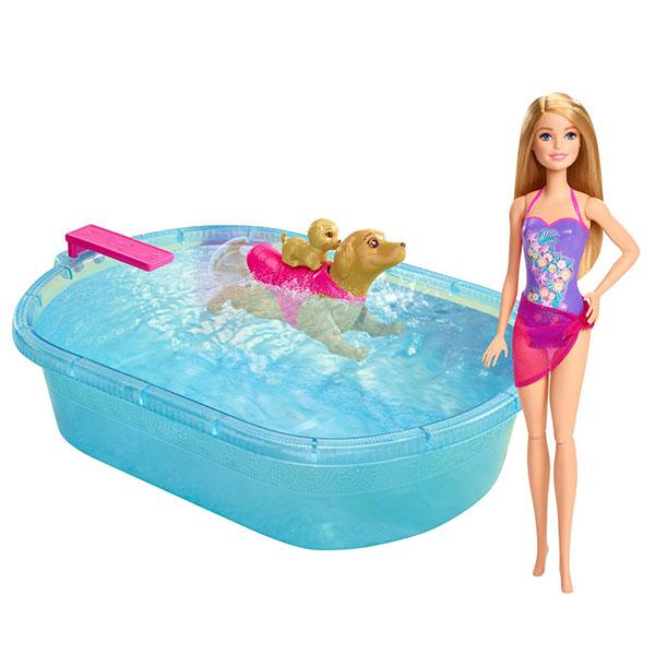 Mattel Barbie DMC32 Барби Набор для купания щенков