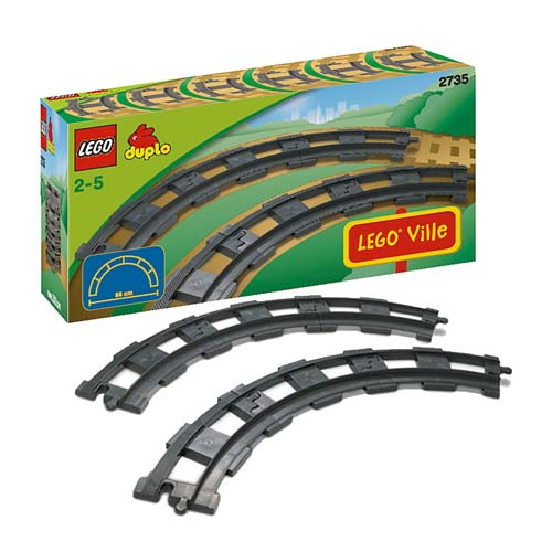 Lego Duplo 2735 Конструктор 6 закруглённых рельсов