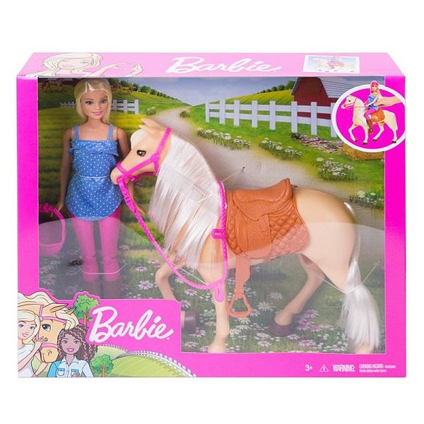 Mattel Barbie FXH13 Барби и лошадь