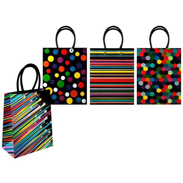 Пакет подарочный бумажный, черный глянец TZ6402 (44*32*11 см) пакет бумажный подарочный новогодний в ассортименте 32 и 45 см 32х12см