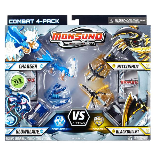 Monsuno 24974_1 Монсуно Боевой комплект для 4 игроков (Combat 4-Packs)