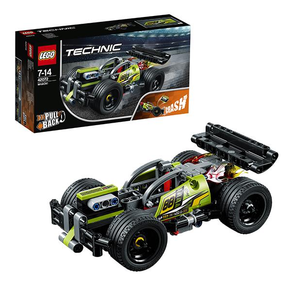 Lego Technic 42072 Конструктор Лего Техник Зеленый гоночный автомобиль lego technic конструктор гоночный автомобиль для побега