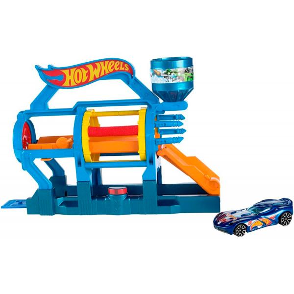 Mattel Hot Wheels DWL00 Игровой набор Супер-мойка mattel hot wheels трек с трамплином мега прыжок