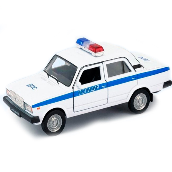 Welly 43644PB Велли модель машины 1:34-39 LADA 2107 ПОЛИЦИЯ автомобиль welly nissan gtr 1 34 39 белый 43632