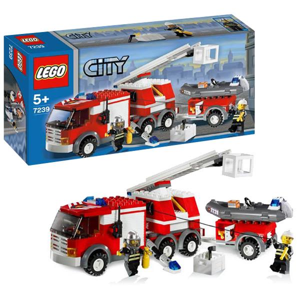 LEGO City 7239 Конструктор ЛЕГО Город Пожарная машина