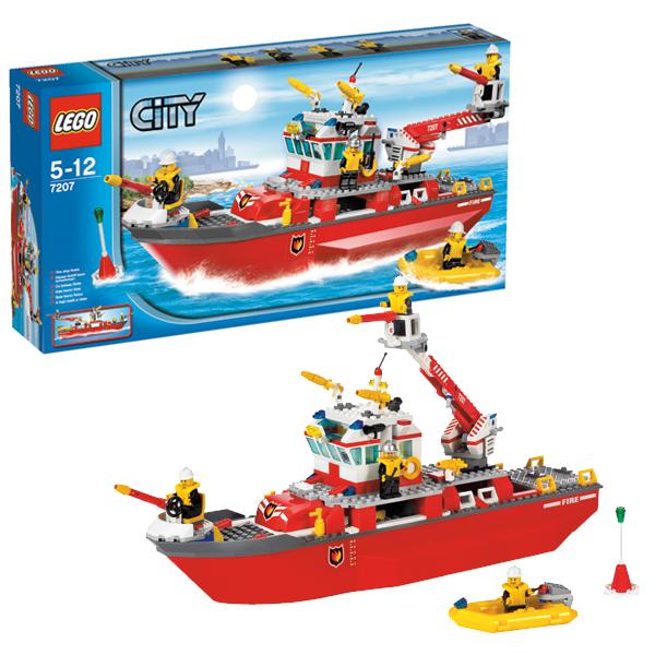 Lego City 7207 Конструктор Лего Город Пожарный катер