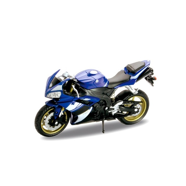 Welly 12806P Велли Модель мотоцикла 1:18 Yamaha YZF-R1 brand new motorcycle accessories racing black abs plastics windshields windscreen fit for yamaha yzfr1 yzf r1 r 1 2002 2003