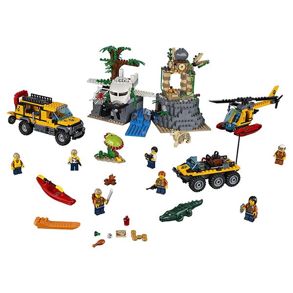 Lego City 60161 Конструктор Лего Город База исследователей джунглей