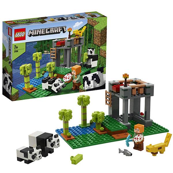 LEGO Minecraft 21158 Конструктор ЛЕГО Майнкрафт Питомник панд детское лего sluban airbus lego b0366