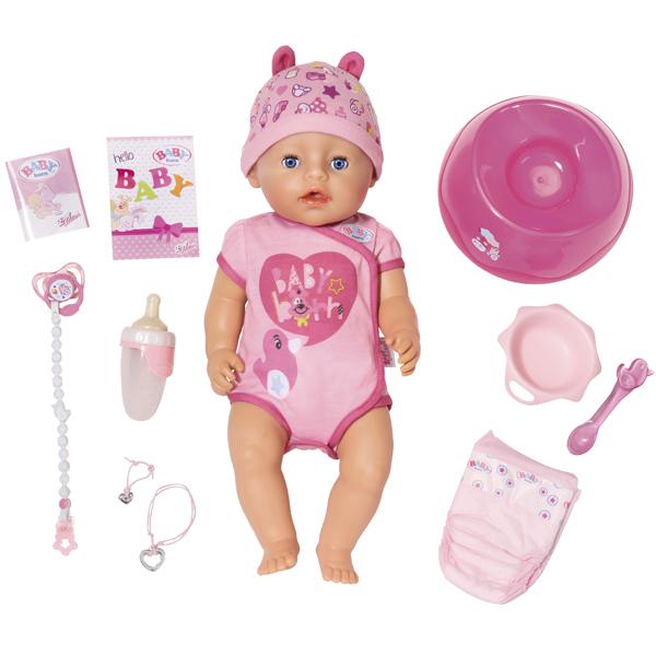Zapf Creation Baby born 825-938 Бэби Борн Кукла Интерактивная, 43 см zapf creation baby born 779 170 бэби борн детское питание 12 пакетиков