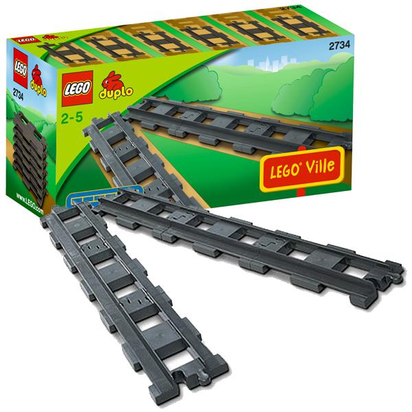 Lego Duplo 2734 Конструктор 6 прямых рельсов