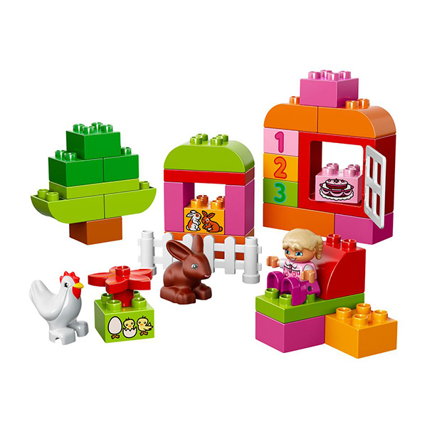 Лего Дупло 10571 Конструктор Лучшие друзья: курочка и кролик