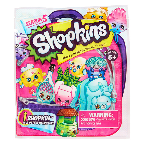 Shopkins 56290 Шопкинс Фольгированный пакетик с 1 героем