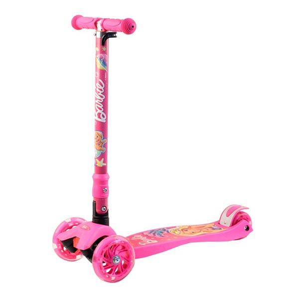Barbie B5PP1 Самокат 3-х колесный c 3D-эффектом, розовый, размеры: 57х22х90см