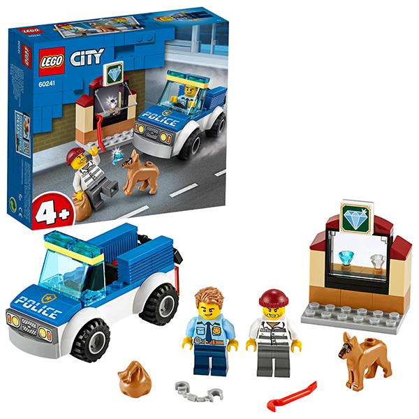 LEGO City 60241 Конструктор ЛЕГО Город Полицейский отряд с собакой