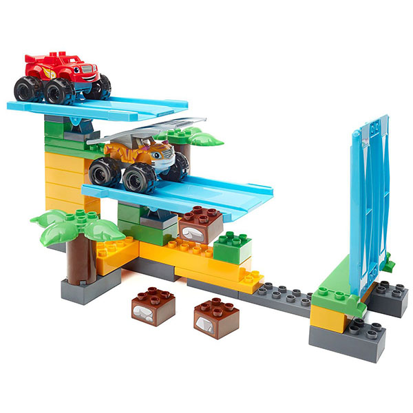Mattel Mega Bloks DPH78 Мега Блокс Вспыш: гонки в джунглях mega bloks конструктор вспыш truckball blaze