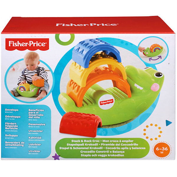 "Mattel Fisher-Price CDC48 Фишер Прайс Игрушка-пирамидка ""Крокодильчик"""