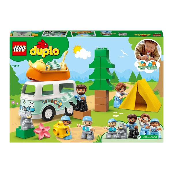LEGO DUPLO 10946 Конструктор ЛЕГО ДУПЛО Семейное приключение на микроавтобусе