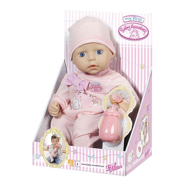 Zapf Creation my first Baby Annabell 794-449 Бэби Аннабель Кукла с бутылочкой, 36 см