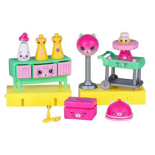 Happy Places 56391 Игровой набор для декора Праздничный ужин у котят happy kin набор фигурок лошади