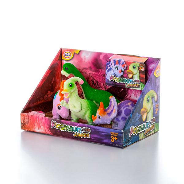 HGL SV12495 Игровой набор флок. мульт динозавры, 4 шт (в ассортименте) hasbro play doh игровой набор из 3 цветов цвета в ассортименте с 2 лет