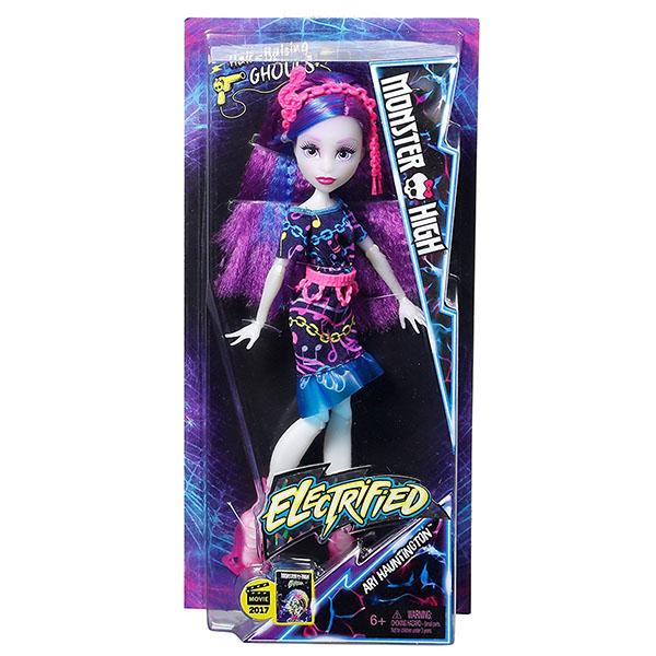 """Mattel Monster High DVH68 Школа Монстров Неоновые монстряшки """"Под напряжением"""" Аури Хаудингтон"""