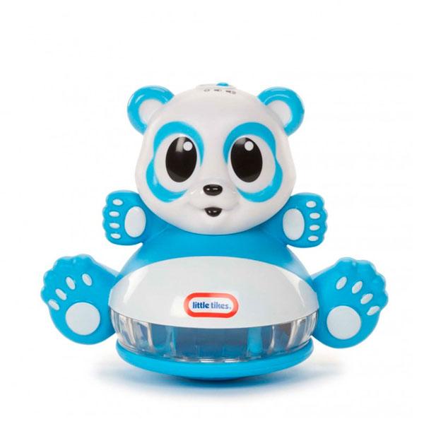 Little Tikes 641442 Литл Тайкс Развивающая Панда-неваляшка со световыми эффектами машинки hti паровозик roadsterz синий с вагоном звуковыми и световыми эффектами