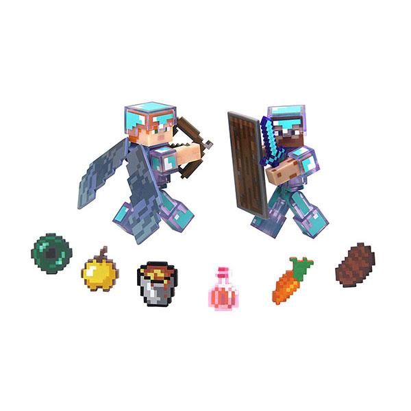 Minecraft 16472 Майнкрафт набор фигурок Steve & Alex Hardcore Survival Pack