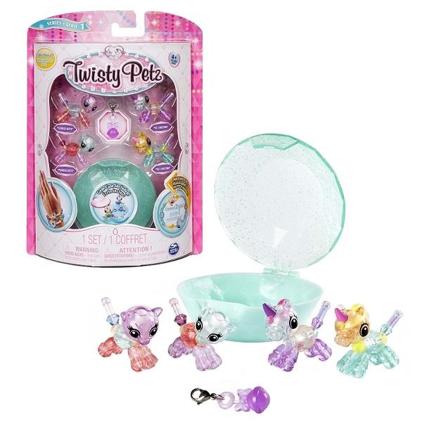 Twisty Petz 74102 Набор бусин для плетения 4 браслетов-мини-питомцев