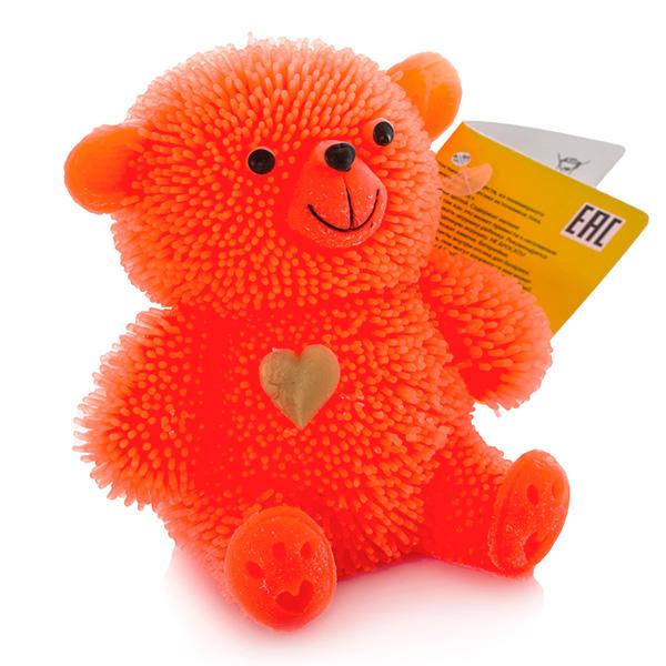 HGL SV10998 Фигурка медведя с резиновым ворсом с подсветкой (в ассортименте)