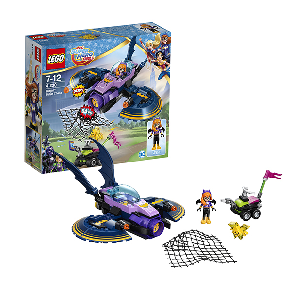 Lego Super Hero Girls 41230 Конструктор Лего Супергёрлз Бэтгёрл: Погоня на реактивном самолёте lego super hero girls 41230 лего супергёрлз бэтгёрл погоня на реактивном самолёте