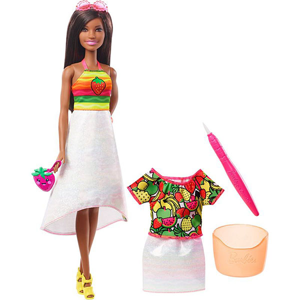 Фото - Mattel Barbie GBK19 Barbie x Crayola Фруктовый сюрприз (брюнетка) набор школьниика barbie