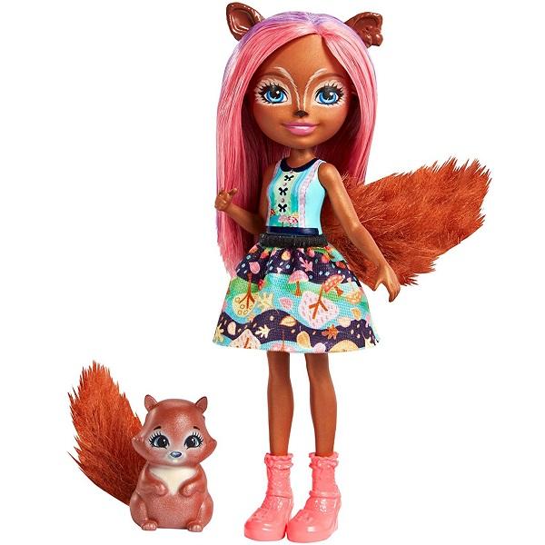 Mattel Enchantimals FMT61 Кукла с питомцем - Санча Белка кукла enchantimals кукла с питомцем fnh22 пики попугай