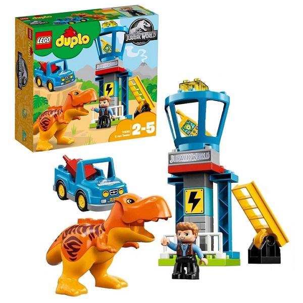 Лего Дупло 10880 Конструктор Jurassic World Башня Ти-Рекса