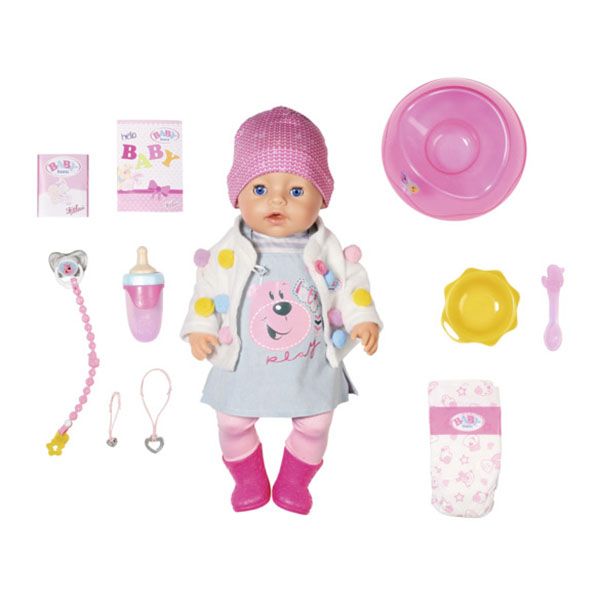 Zapf Creation Baby born 826-690 Бэби Борн Кукла Интерактивная Стильная Весна, 43 см