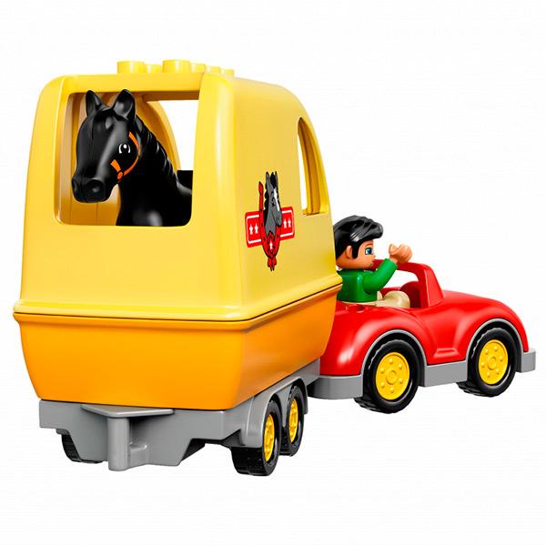 Лего Дупло 10807 Трейлер для лошадок