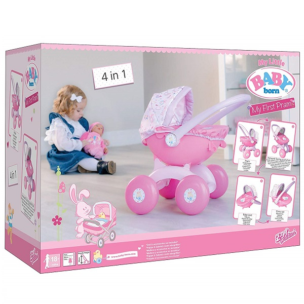 Zapf Creation BABY Born 1423576 Бэби Борн Коляска для куклы высотой 32 см