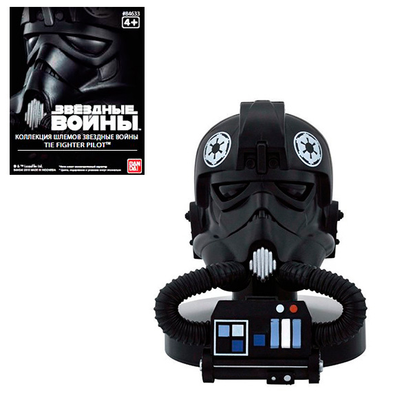 Star Wars Bandai 84633 Звездные Войны Шлем Пилот Истребитель 6,5 см