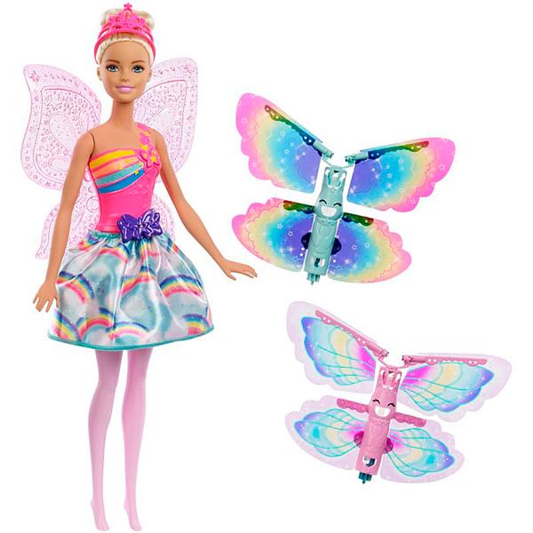 Mattel Barbie FRB08 Барби Фея с летающими крыльями (в ассортименте) барби barbie barbie кукла barbie фея с летающими крыльями