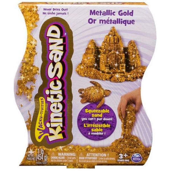 Kinetic sand 71408-0023 Кинетик сэнд Кинетический песок, металлик (в ассортименте) wg супер кинетический песок цветной 0 5 кг в ведерке красный