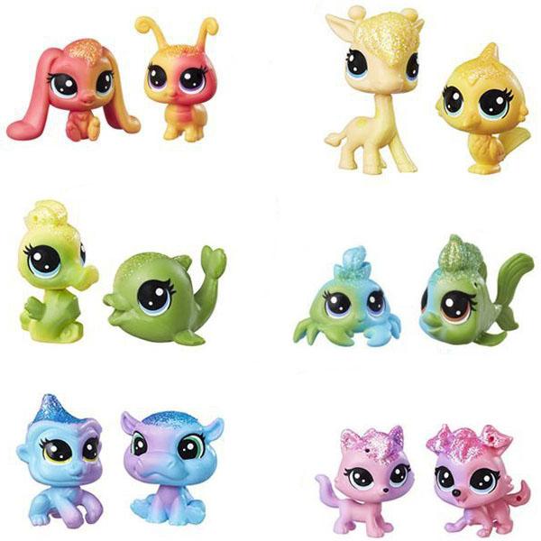Hasbro Littlest Pet Shop C0794 Литлс Пет Шоп: Радужная колллекция - 2 радужных пета фигурка littlest pet shop зверюшка в закрытой упаковке 5 см в ассортименте