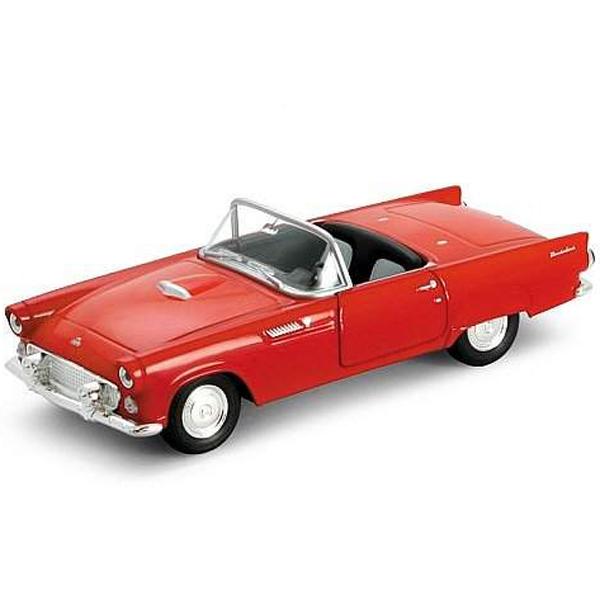 Welly 42366 Велли Модель винтажной машины 1:34-39 Ford Thunderbird 1955 автомобиль jada toys ford coe 1 24 в ассортименте
