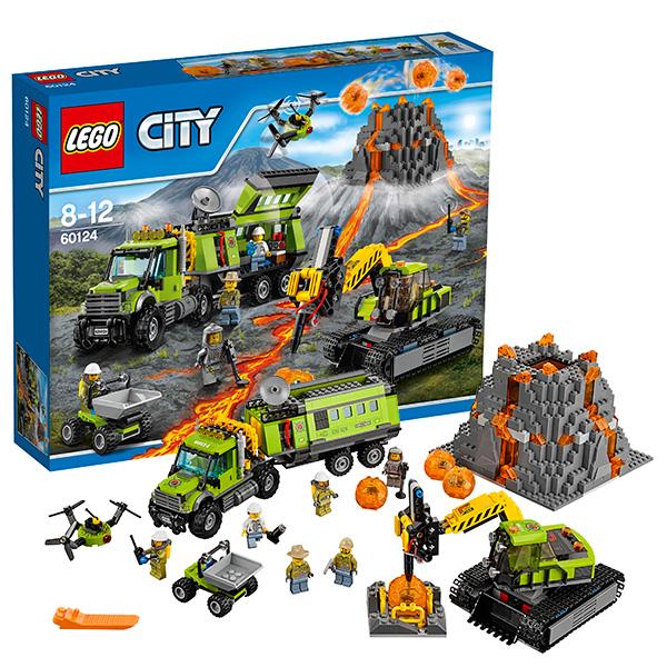 Lego City 60124 Лего Город База исследователей вулканов конструкторы lego lego city jungle explorer база исследователей джунглей 60161