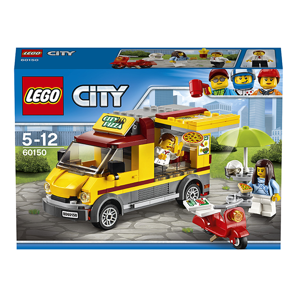 LEGO City 60150 Конструктор ЛЕГО Город Фургон-пиццерия