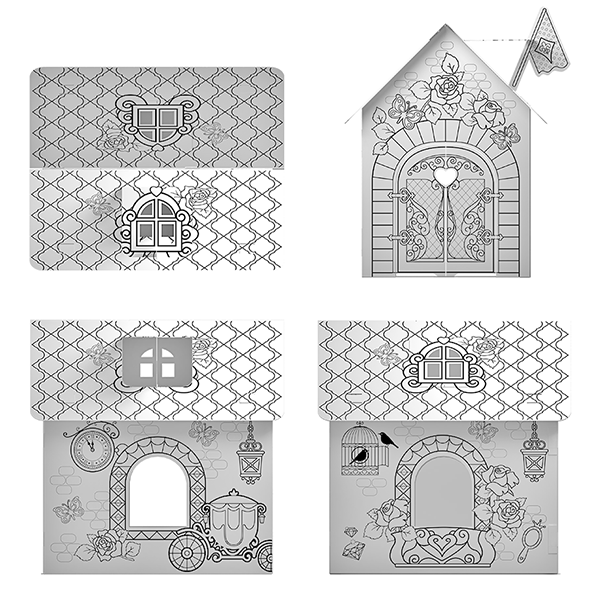 """ArtBerry 39232 Игровой конструктор для раскрашивания """"Princess house"""""""