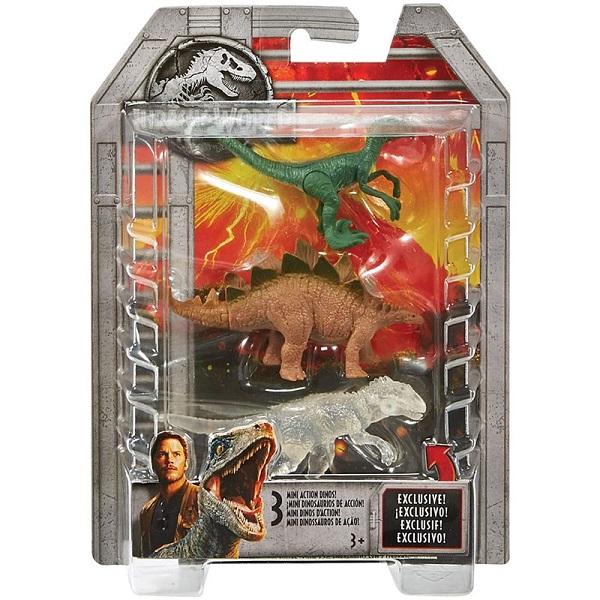 Mattel Jurassic World FPN72 Мини-динозавры - упаковка из 3-х